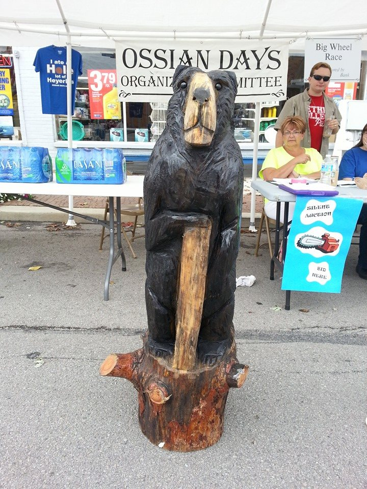 Sid King's Chainsaw Carving from 2014