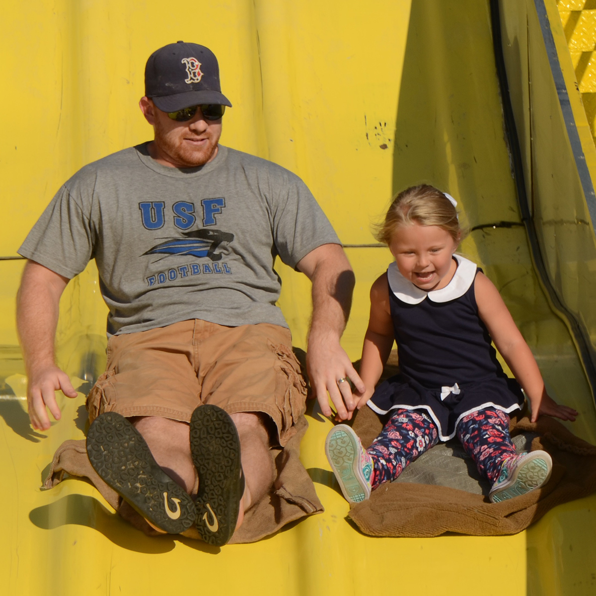 Festival Goers enjoying the Super Slide