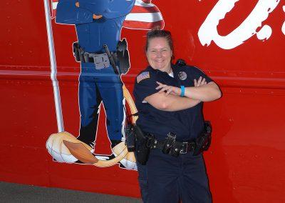 Officer Stephanie Tucker with DARE Van