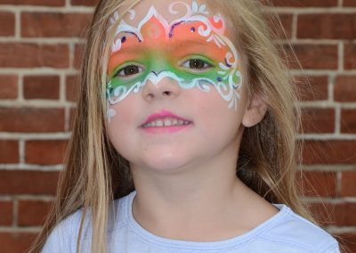 Child with Face Painted at Ossian Days 2016