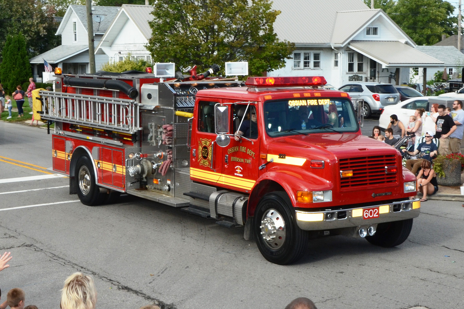 Ossian Firetruck in 2016 Ossian Days Parade