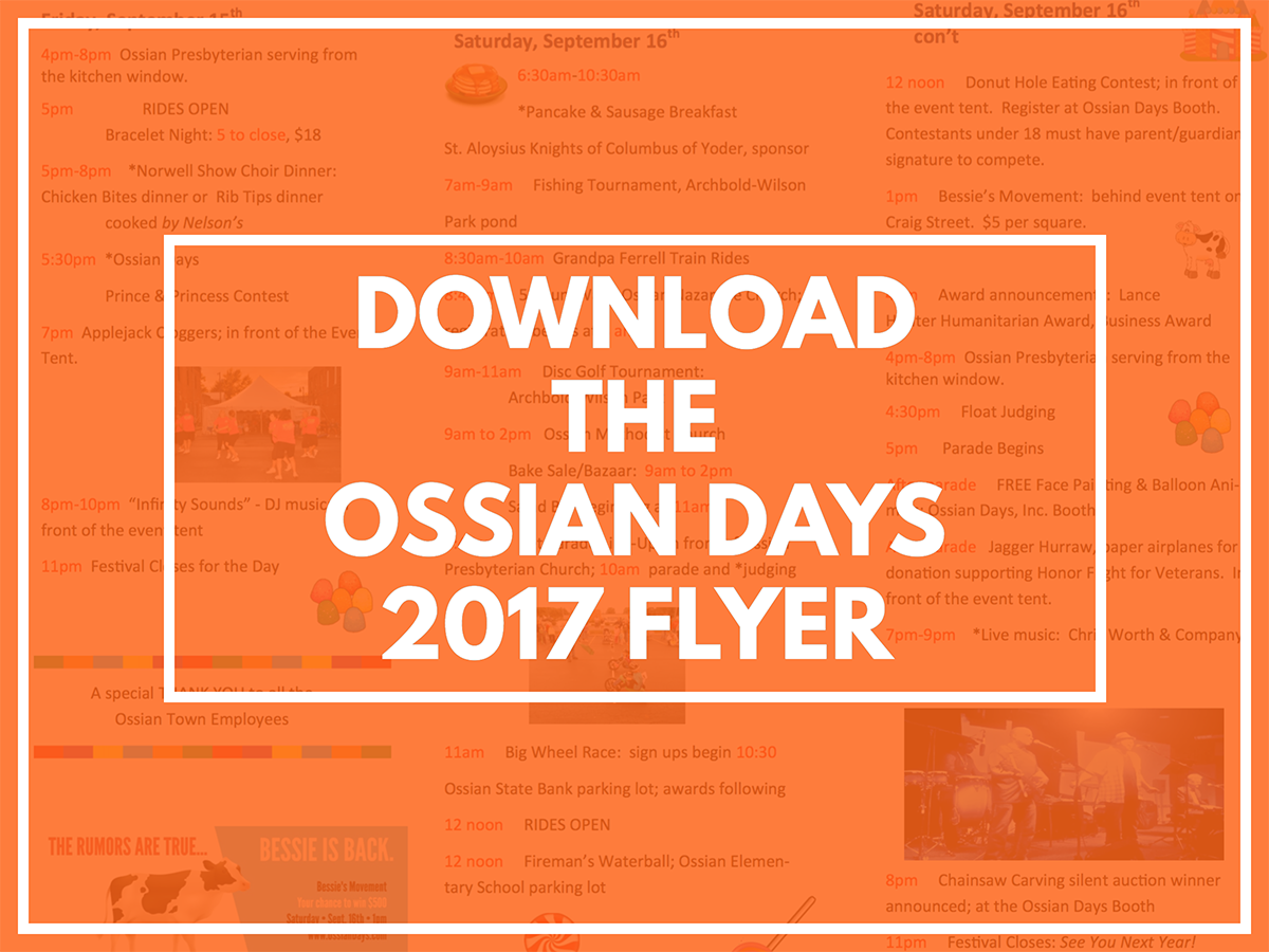 Download the Ossian Days 2017 Flyer
